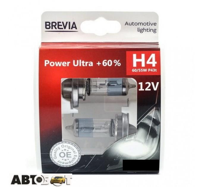 Галогенная лампа BREVIA Power Ultra +60% H4 12040PUS (2 шт.)