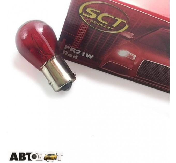 Лампа накаливания SCT PR21W Red 12V 21W 202081(1 шт.), цена: 27 грн.