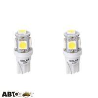 LED лампа SOLAR T10 W2.1x9.5d 12V 5SMD white LS243_B2 (2 шт.)