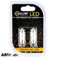 LED лампа SOLAR SV8.5 T11x39 24V 6SMD 2835 white SL2551 (2 шт.)