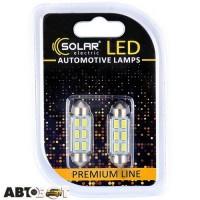 LED лампа SOLAR SV8.5 T11x41 12V 6SMD 5730 CANBUS white SL1361 (2 шт.)