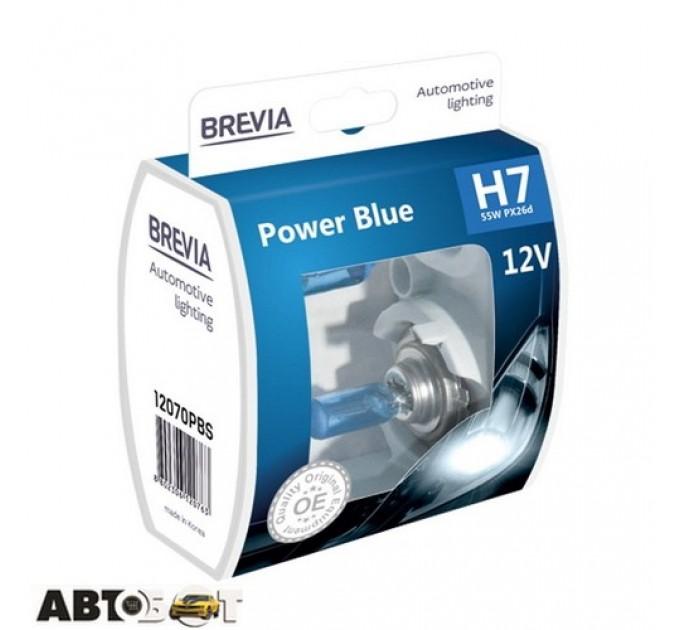 Галогенная лампа BREVIA Power Blue H7 4200K 12070PBS (2 шт.)