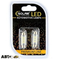 LED лампа SOLAR SV8.5 T11x39 12V 6SMD 2835 white SL1351 (2 шт.)