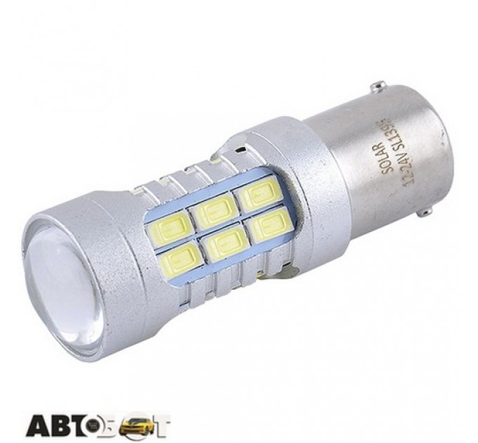 LED лампа SOLAR S25 BA15s 12-24V 27SMD 2835 CANBUS Non-Polar white SL1395 (2 шт.), цена: 240 грн.