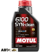 Моторное масло MOTUL 6100 SYN-CLEAN 5W-40 854211 1л