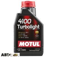 Моторное масло MOTUL 4100 Turbolight 10W-40 387601 1л