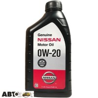 Моторное масло Nissan Genuine Motor Oil 0W-20 999PK000W20N 946мл