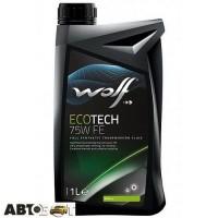 Трансмиссионное масло WOLF ECOTECH 75W FE 1л