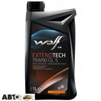 Трансмиссионное масло WOLF EXTENDTECH 75W-90 GL-5 1л