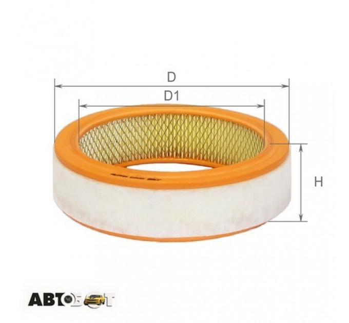 Воздушный фильтр ALPHA FILTER AF 0102, цена: 34 грн.