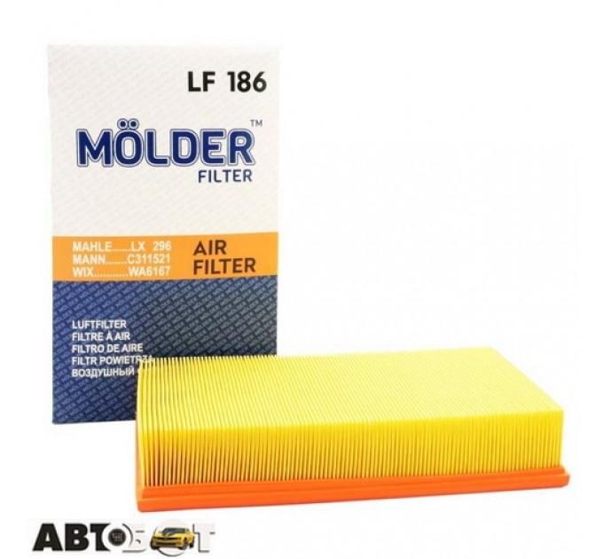Воздушный фильтр Molder LF186, цена: 84 грн.
