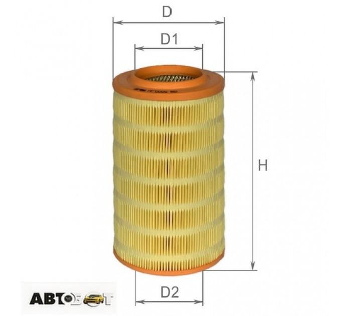 Воздушный фильтр ALPHA FILTER AF 0005, цена: 141 грн.