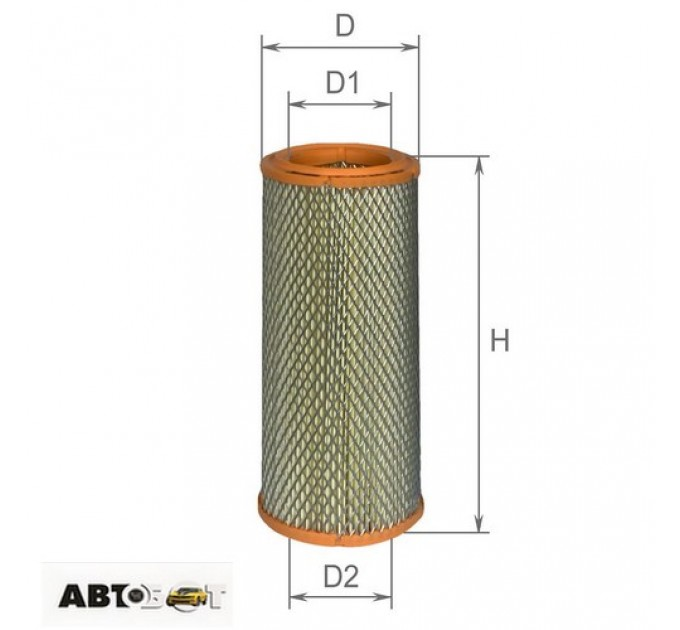 Воздушный фильтр ALPHA FILTER AF 0128, цена: 152 грн.