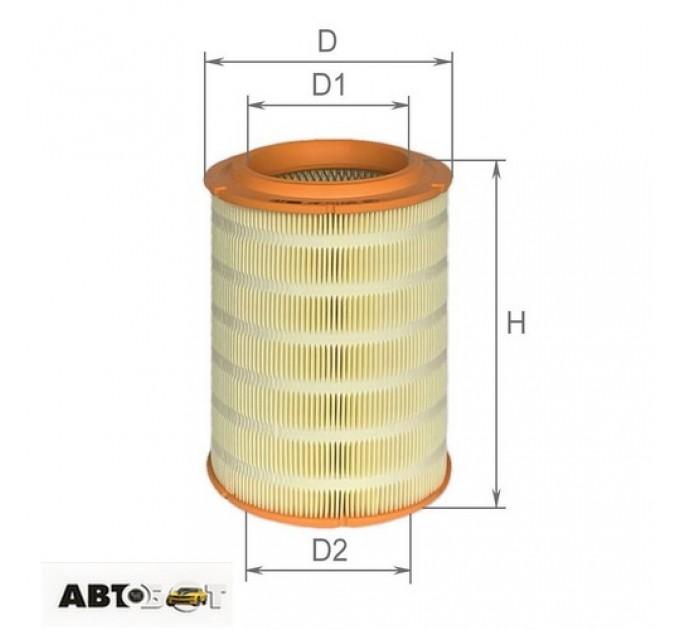 Воздушный фильтр ALPHA FILTER AF 0168, цена: 168 грн.