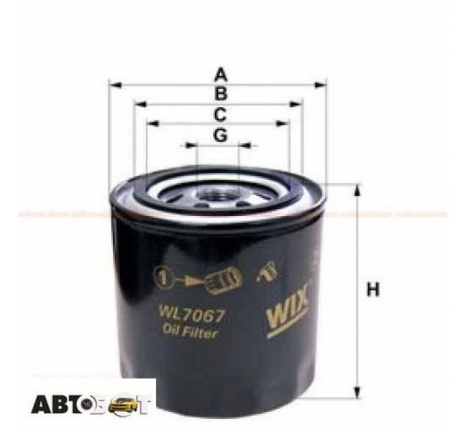Масляный фильтр WIX WL7067, цена: 74 грн.