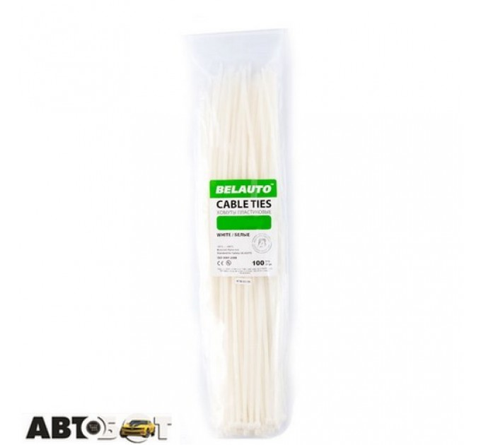 Стяжка БЕЛАВТО 7,6 х 350 белые 100 шт. W76350, цена: 209 грн.