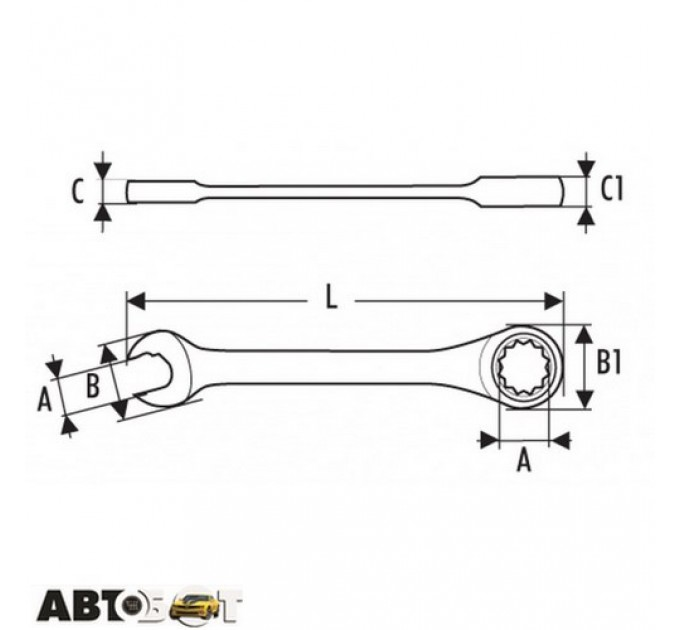 Ключ рожково-накидной EXPERT E110928, цена: 137 грн.