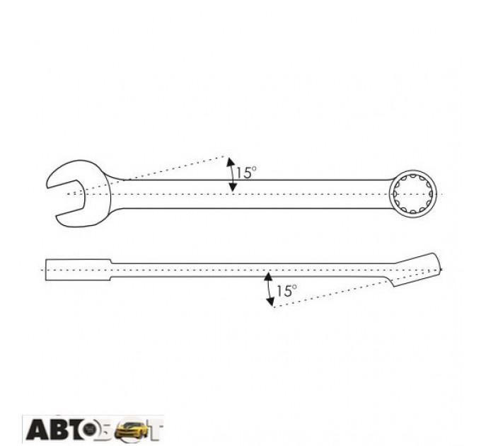 Ключ рожково-накидной CarLife WR4014, цена: 27 грн.