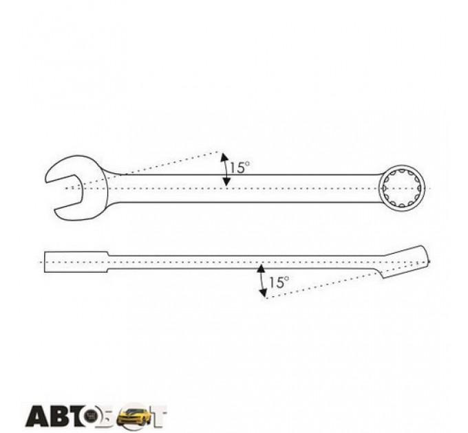 Ключ рожково-накидной CarLife WR4029, цена: 145 грн.