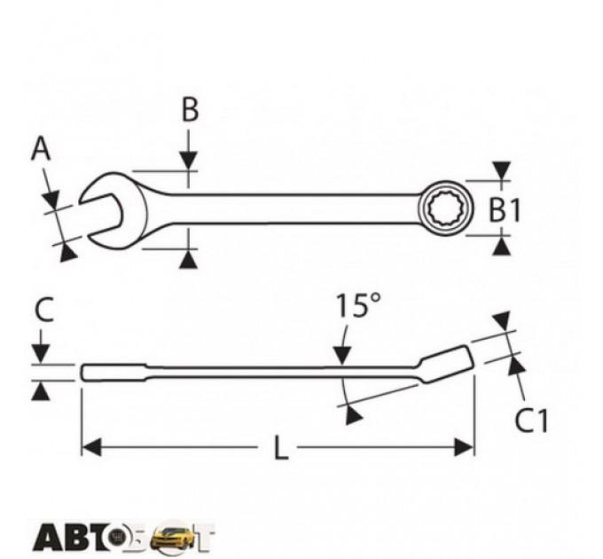 Ключ рожково-накидной EXPERT E113215, цена: 96 грн.