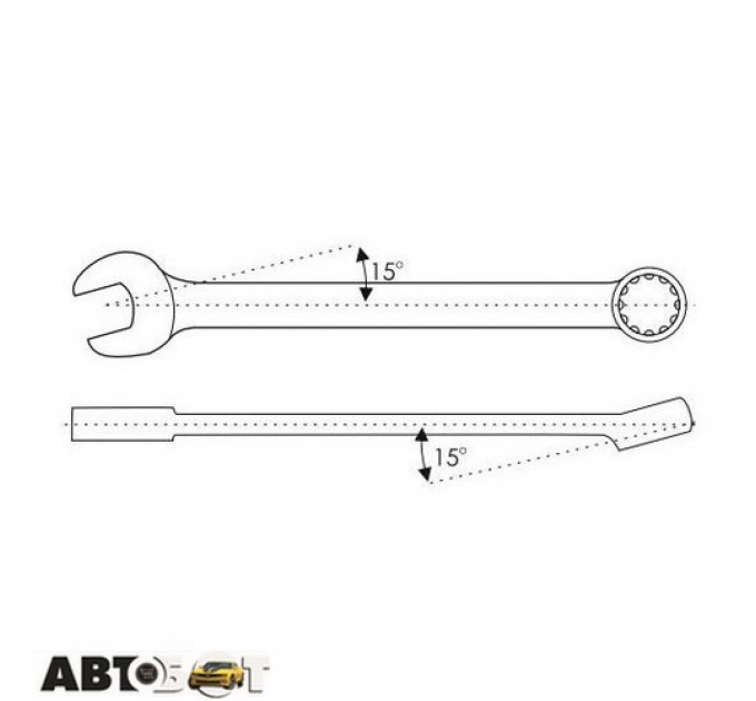 Ключ рожково-накидной CarLife WR4030, цена: 146 грн.