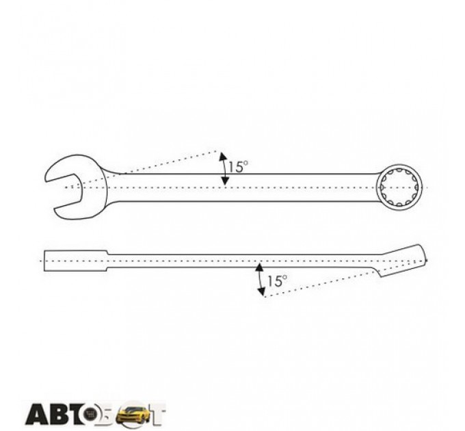 Ключ рожково-накидной CarLife WR4018, цена: 39 грн.