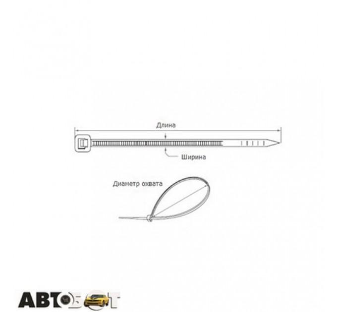 Стяжка CarLife W7.6x350 (100шт.), цена: 151 грн.