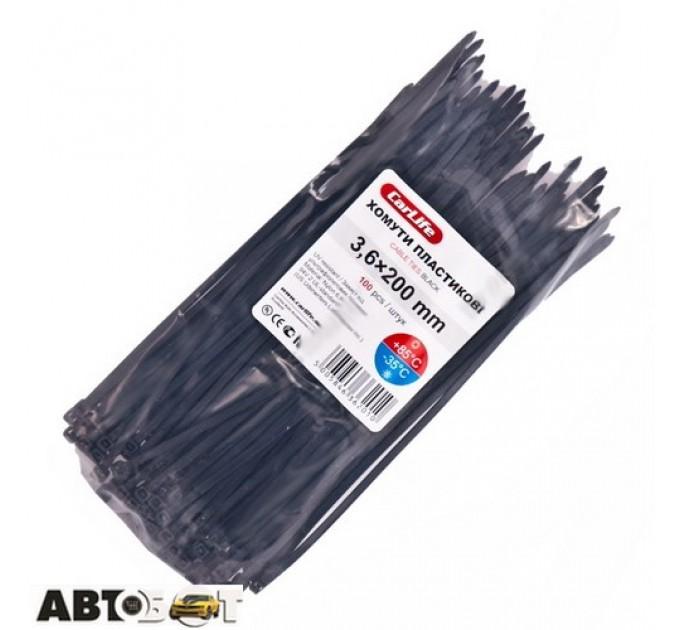 Стяжка CarLife BL3.6x200 (100шт.), цена: 34 грн.