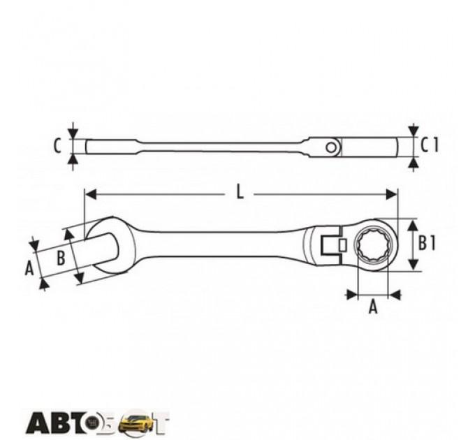 Ключ рожково-накидной EXPERT E110901, цена: 268 грн.