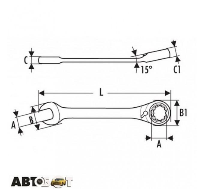 Ключ рожково-накидной EXPERT E113303, цена: 227 грн.