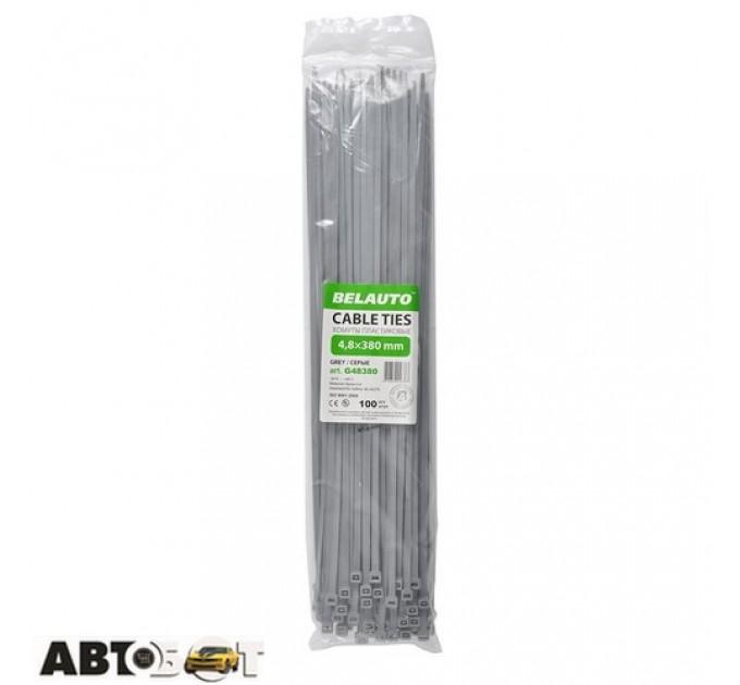 Стяжка БЕЛАВТО 4,8x380 серые (100шт.) G48380, цена: 114 грн.