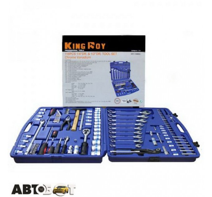 Набор инструментов KING ROY 118MDA, цена: 4 206 грн.