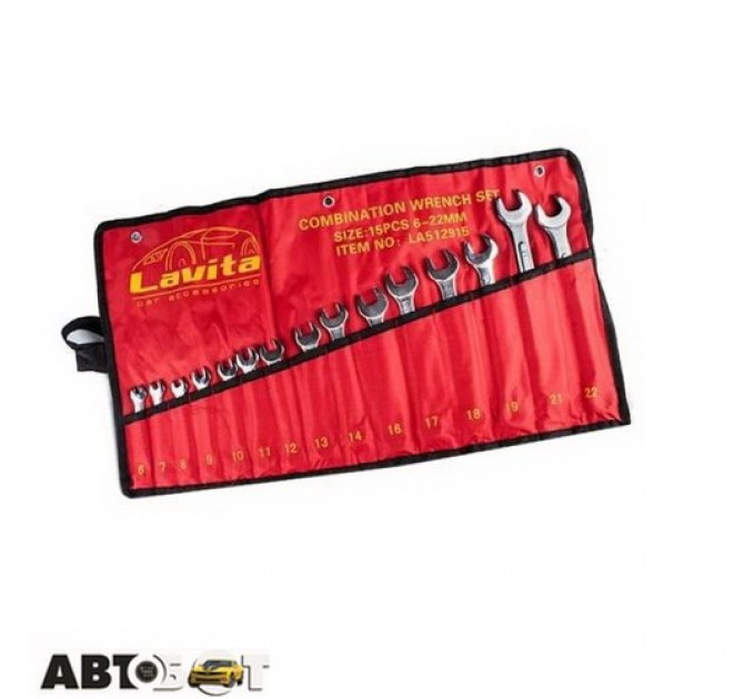 Набор ключей рожково-накидных Lavita LA 512915, цена: 440 грн.
