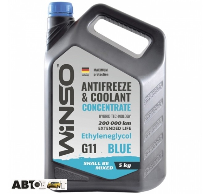 Антифриз Winso ANTIFREEZE & COOLANT CONCENTRATE WINSO BLUE G11 881030 5кг