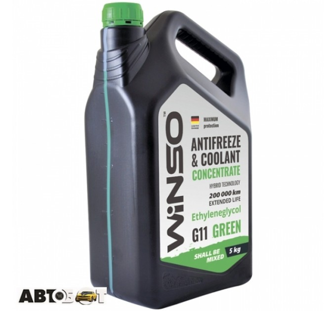Антифриз Winso ANTIFREEZE & COOLANT CONCENTRATE WINSO GREEN G11 881010 5кг