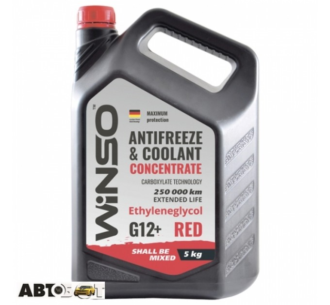 Антифриз Winso ANTIFREEZE & COOLANT CONCENTRATE WINSO RED G12+ 880990 5кг