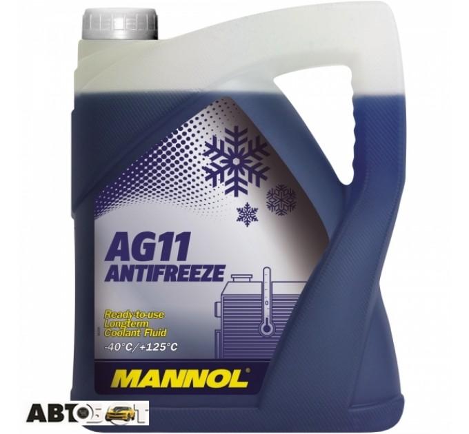 Антифриз MANNOL Antifreeze AG11 синий -40С 5л