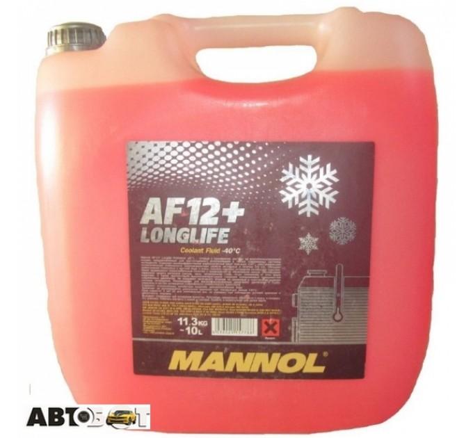 Антифриз MANNOL Longlife Antifreeze AF12+ красный концентрат 10л