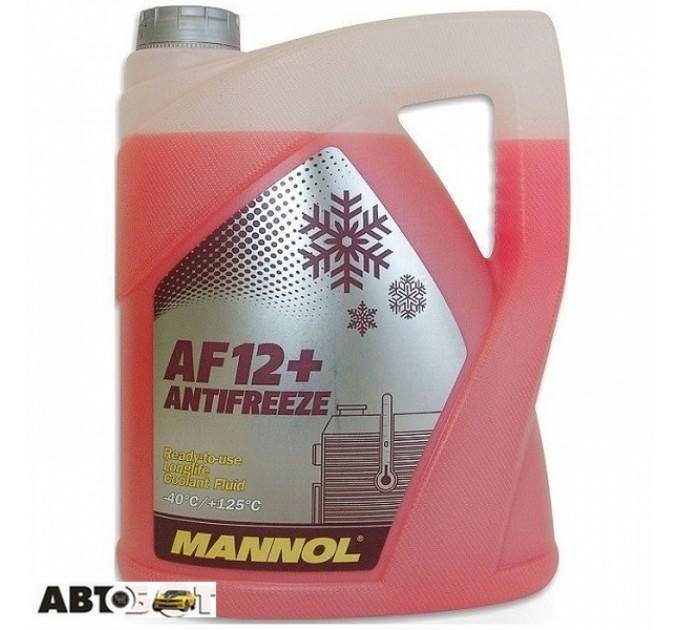 Антифриз MANNOL Antifreeze AF12+ красный -40C 5л