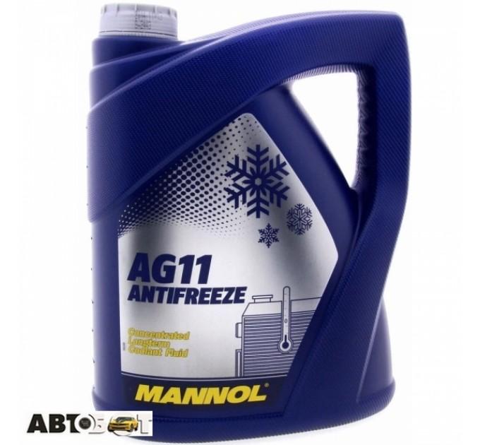 Антифриз MANNOL Longterm Antifreeze AG11 синий концентрат 5л