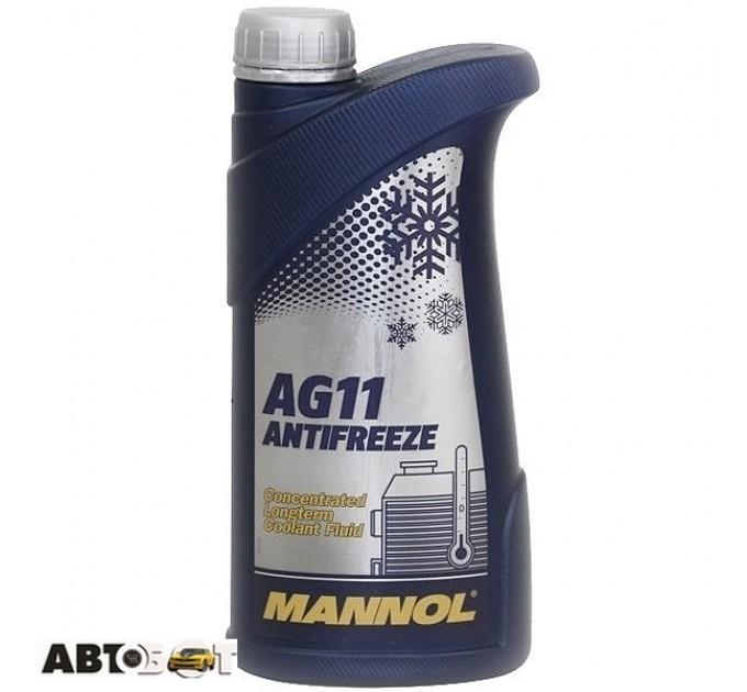 Антифриз MANNOL Longterm Antifreeze AG11 синий концентрат 1л