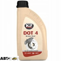 Тормозная жидкость K2 DOT 4 T104 500мл