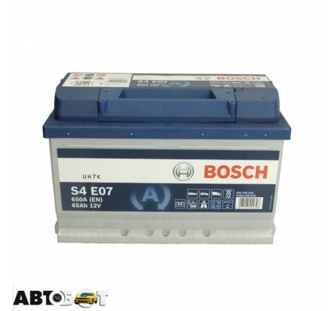Автомобильный аккумулятор Bosch 6СТ-65 АзЕ EFB 0 092 S4E 070, цена: 3 625 грн.