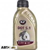 Тормозная жидкость K2 DOT 5.1 500мл T105
