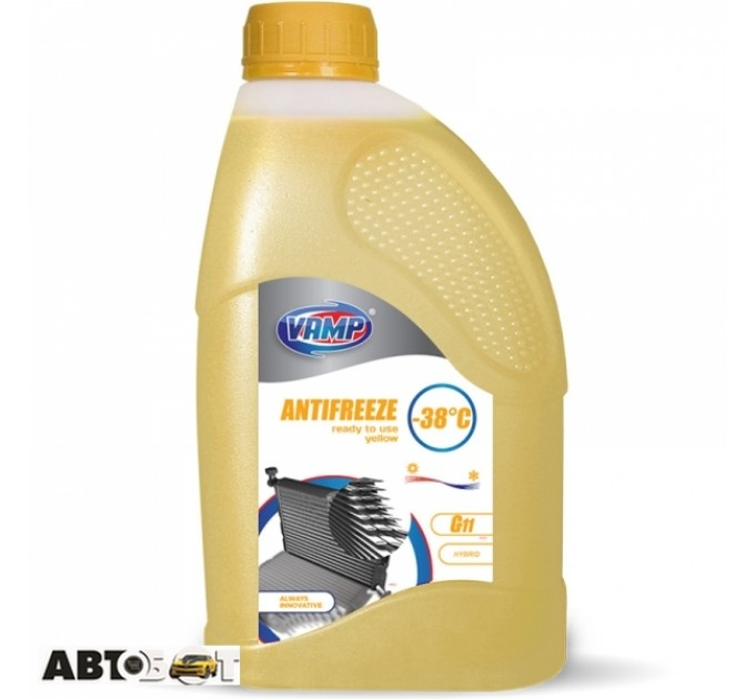 Антифриз ВАМП G11 желтый -40°C 910 1л