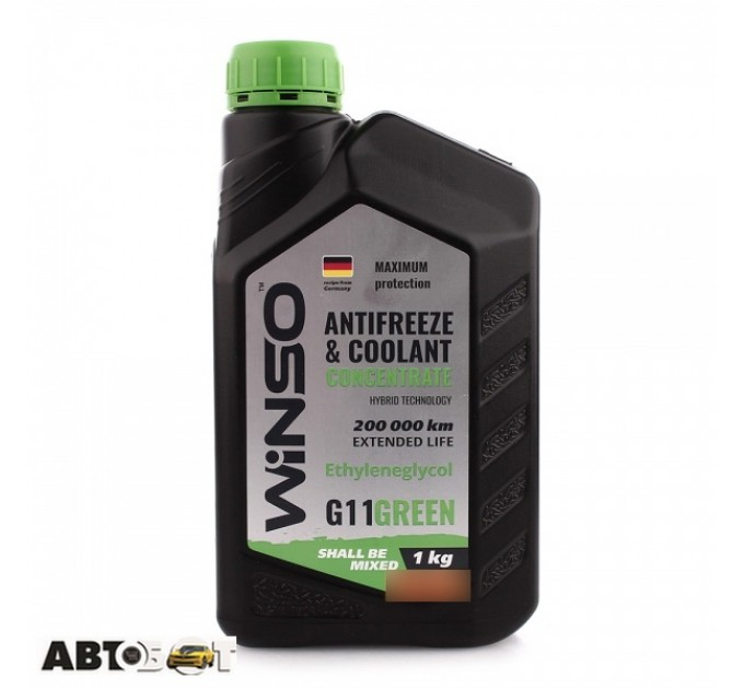 Антифриз Winso ANTIFREEZE & COOLANT CONCENTRATE WINSO GREEN G11 881020 1кг
