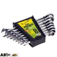 Набор ключей рожково-накидных Alloid НК-2071-8Р