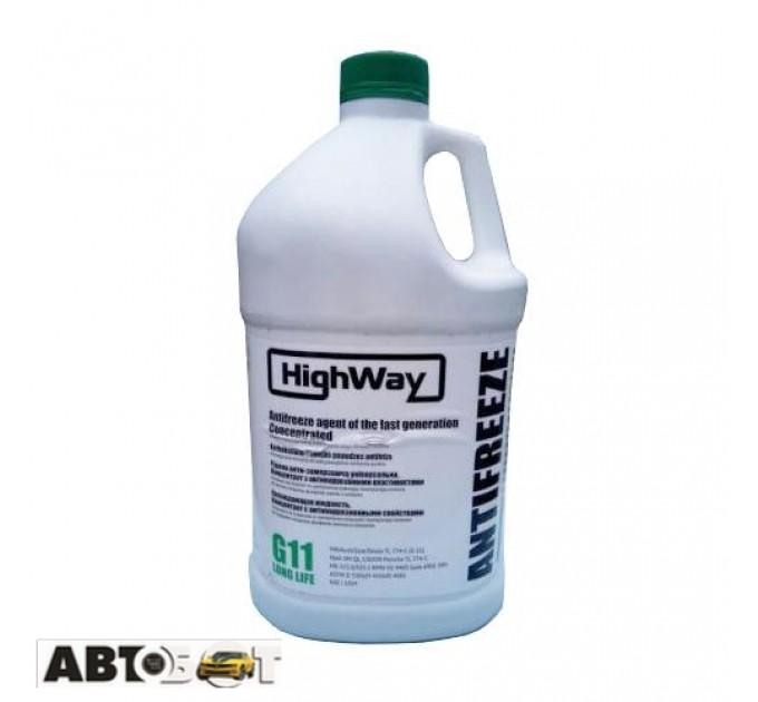 Антифриз High Way G11 зеленый концентрат 3,78л