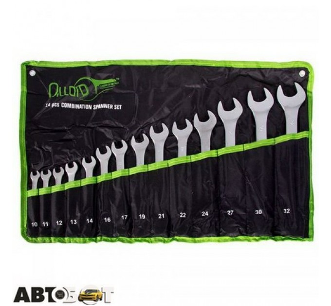 Набор ключей рожково-накидных Alloid НК-2005-14М