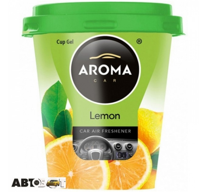 Ароматизатор Aroma Car CUP Gel LEMON 92875 130г